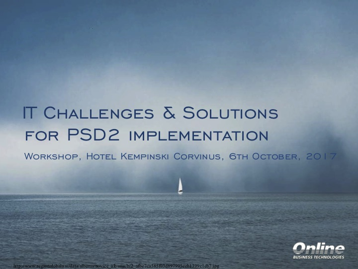 PSD2 Workshop presentation
