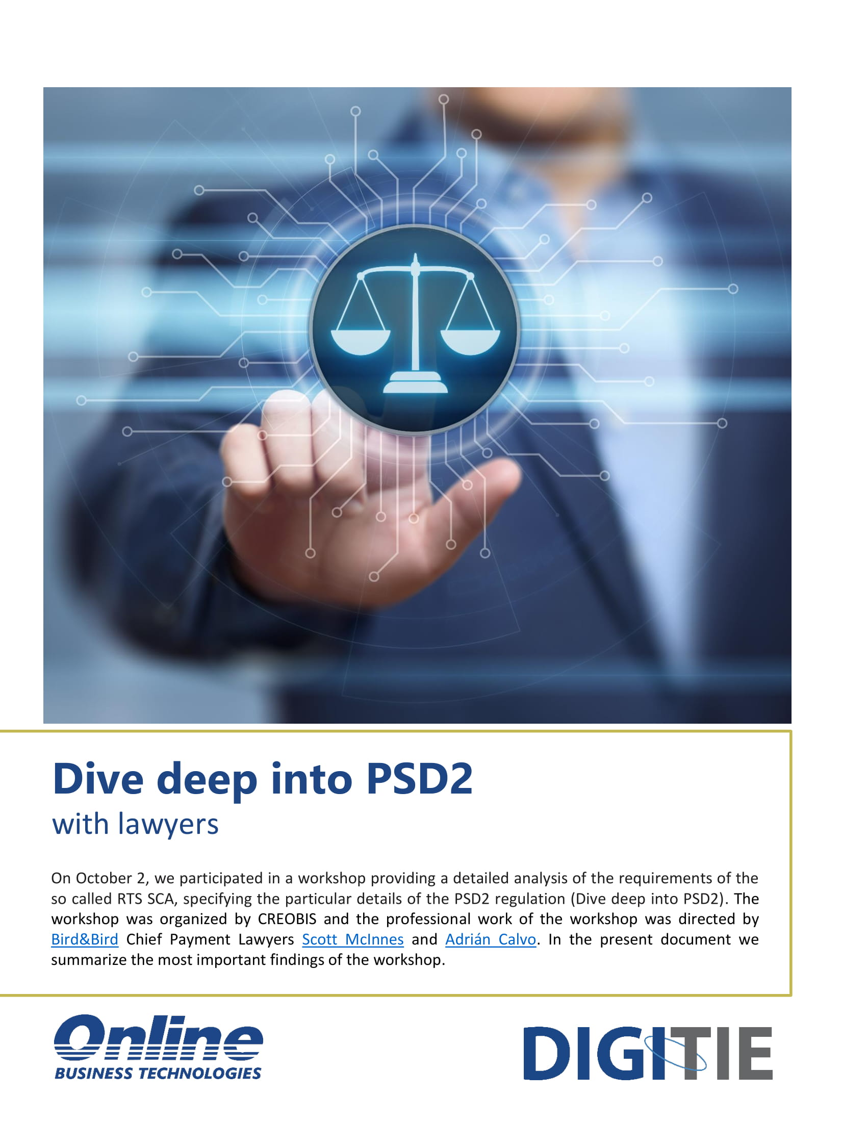 Dive deep into PSD2 with lawyers