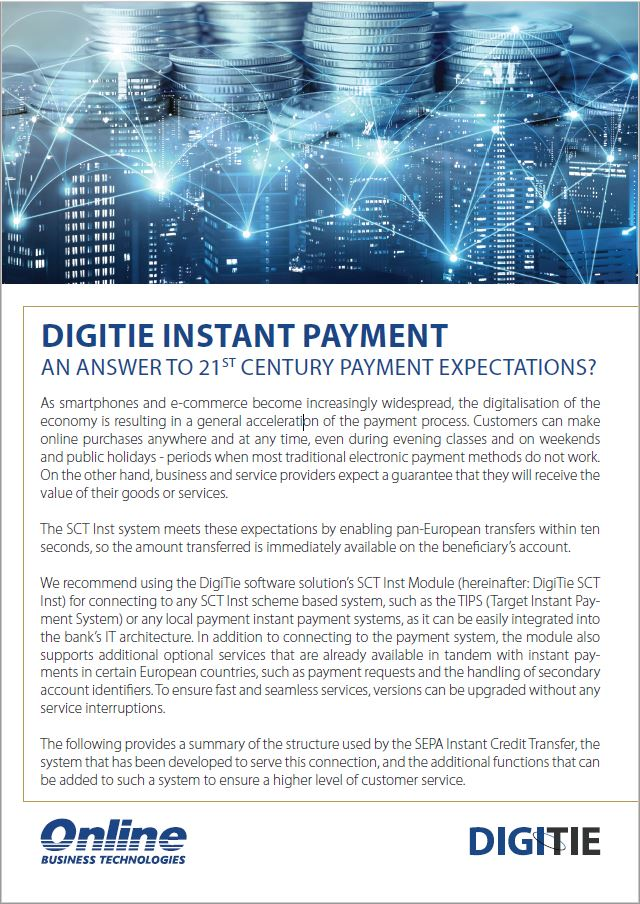 Overview of DigiTie Instant Payment